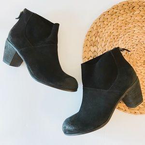 Kelsi Dagger Black Suede Ankle Boots